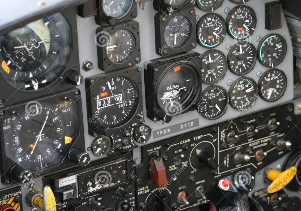 Fighter jet control panel